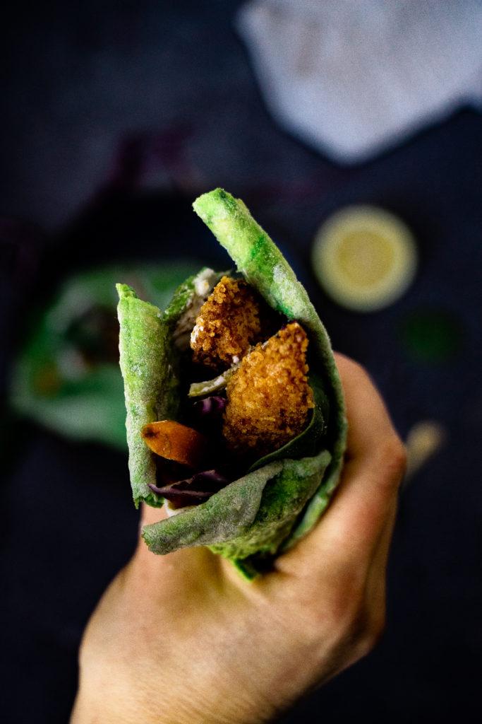 tortilla wrap épinard
