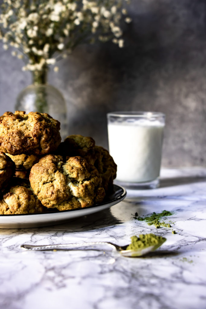 Cookies matcha chocolat blanc