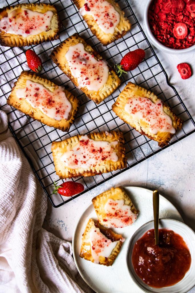 pop-tarts fraises rhubarbe