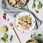 Taboulé truite concombre radis