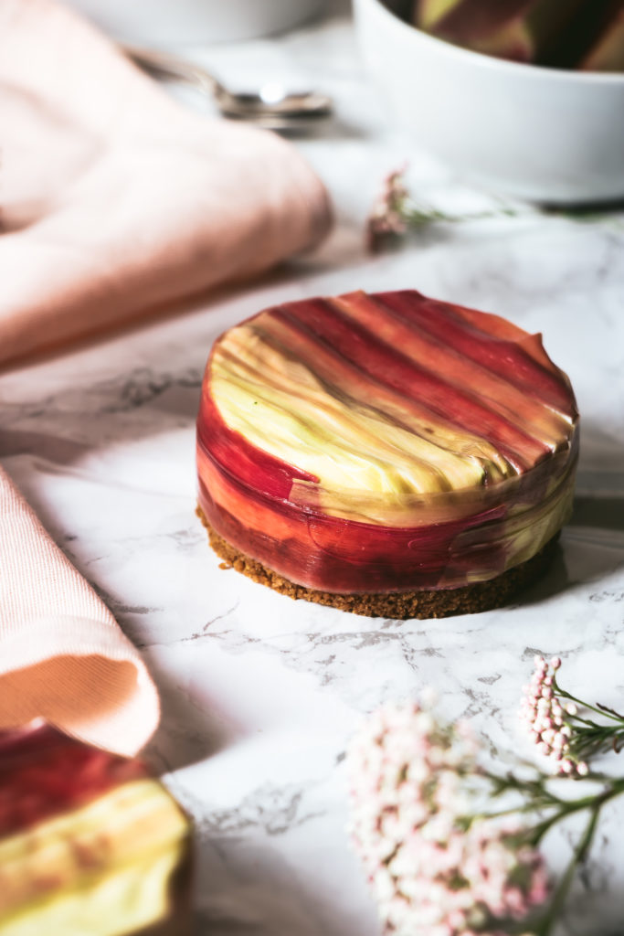 Cheesecake rhubarbe vanille speculoos