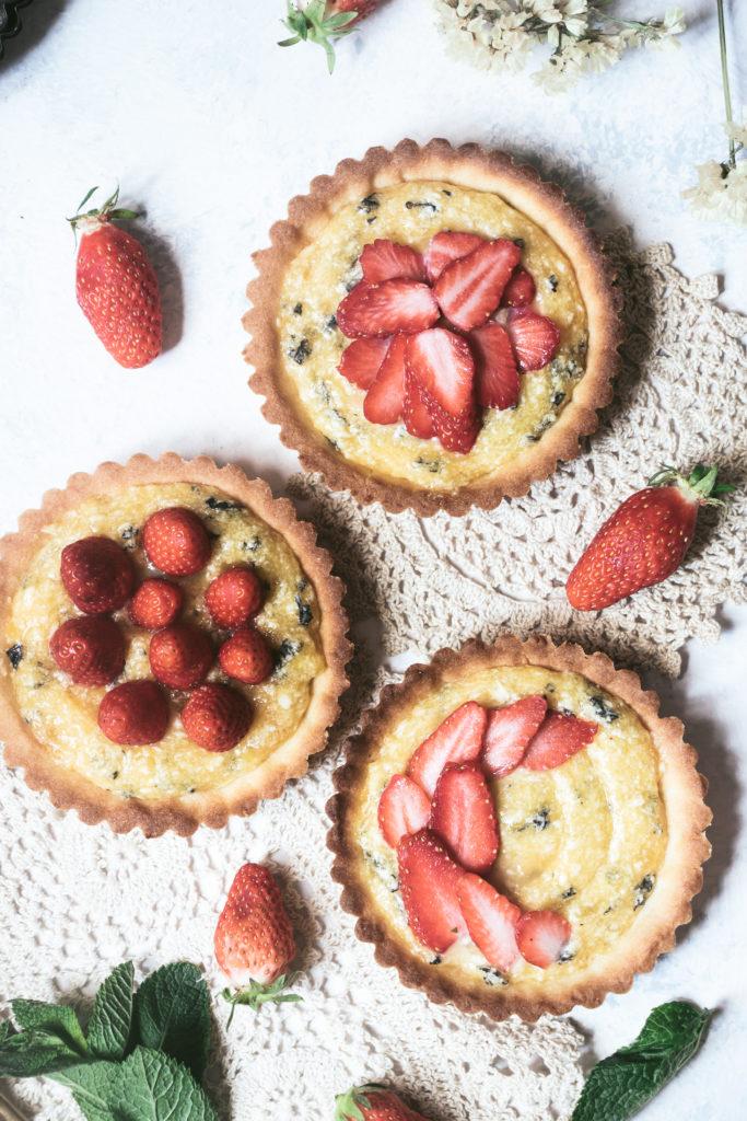 Tartelettes fraises menthe