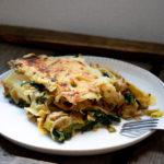 lasagnes épinards poireaux poulet estragon