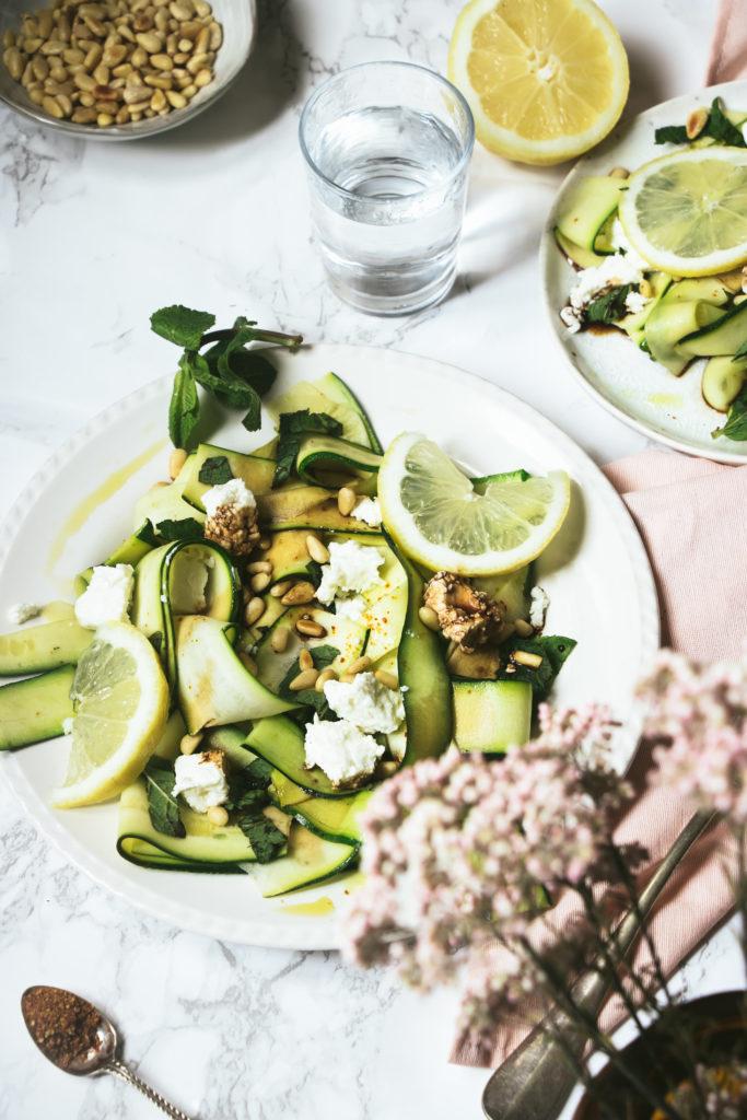 salade courgette feta pignons