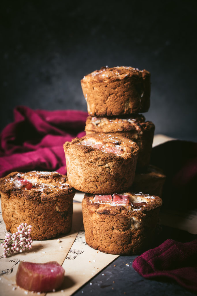 muffins vegan rhubarbe gingembre
