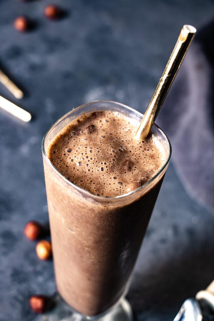 Milkshake chocolat noisette