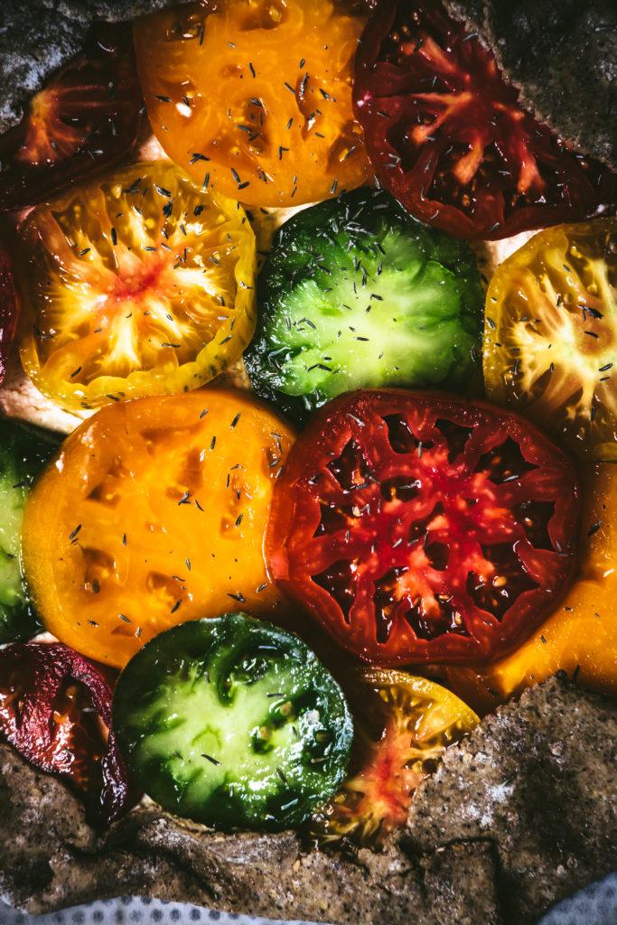 Tarte rustique tomates ricotta