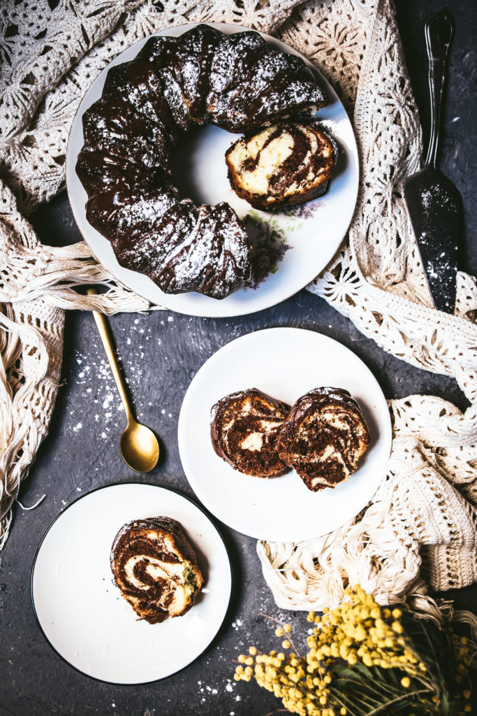 Zebra Cake chocolat vanille