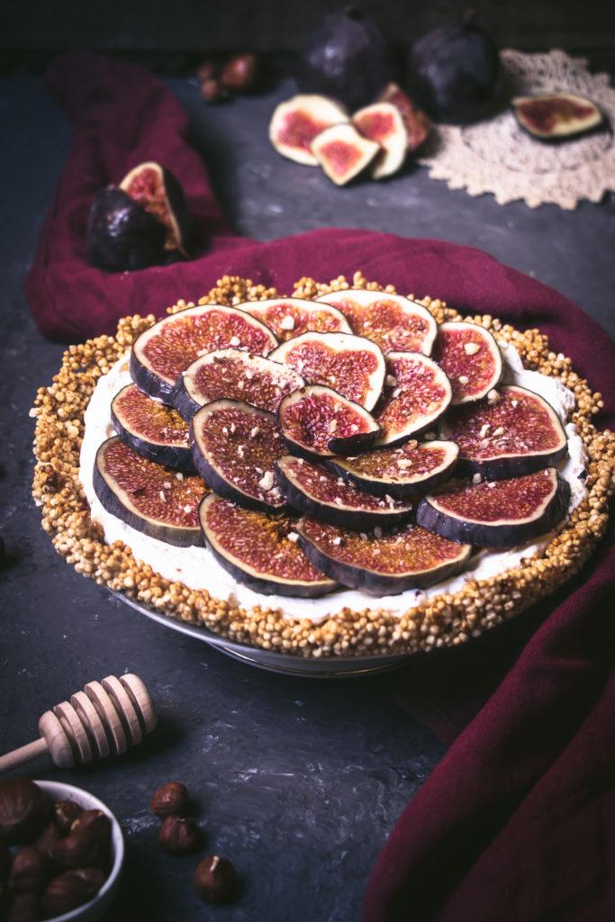 Tarte figues quinoa soufflé
