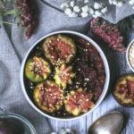Porridge chocolat figues
