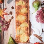Tarte bourdaloue au pralin