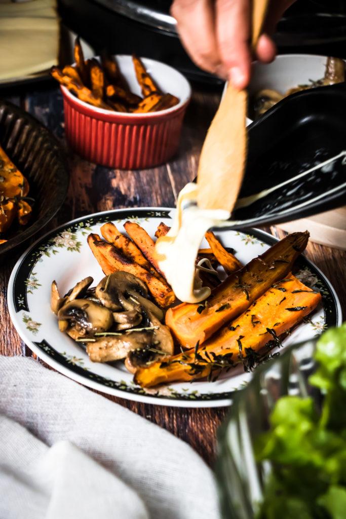Raclette végétarienne