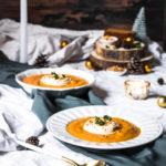 Velouté patates douces carottes chantilly cacahuète