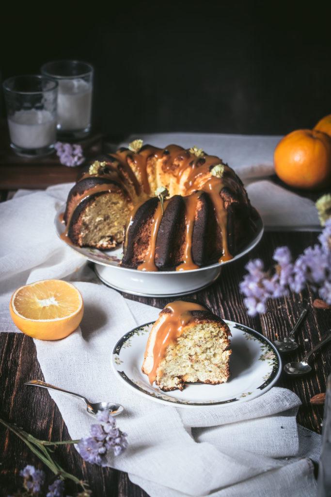 Bundt Cake amandes, agrumes et caramel