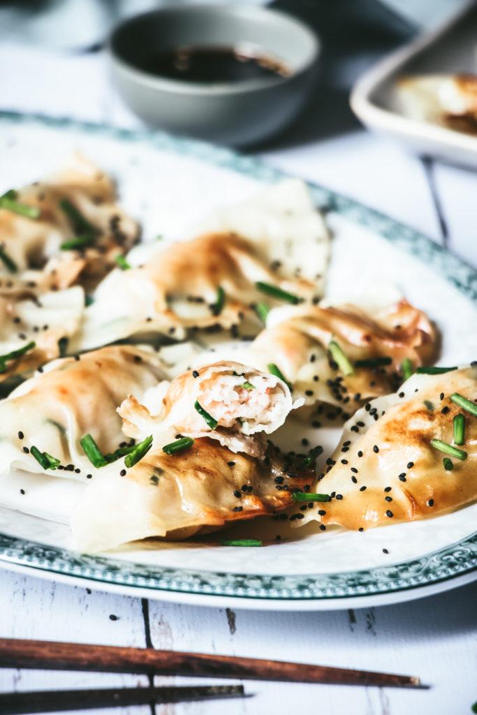 Gyozas choufleur crevettes