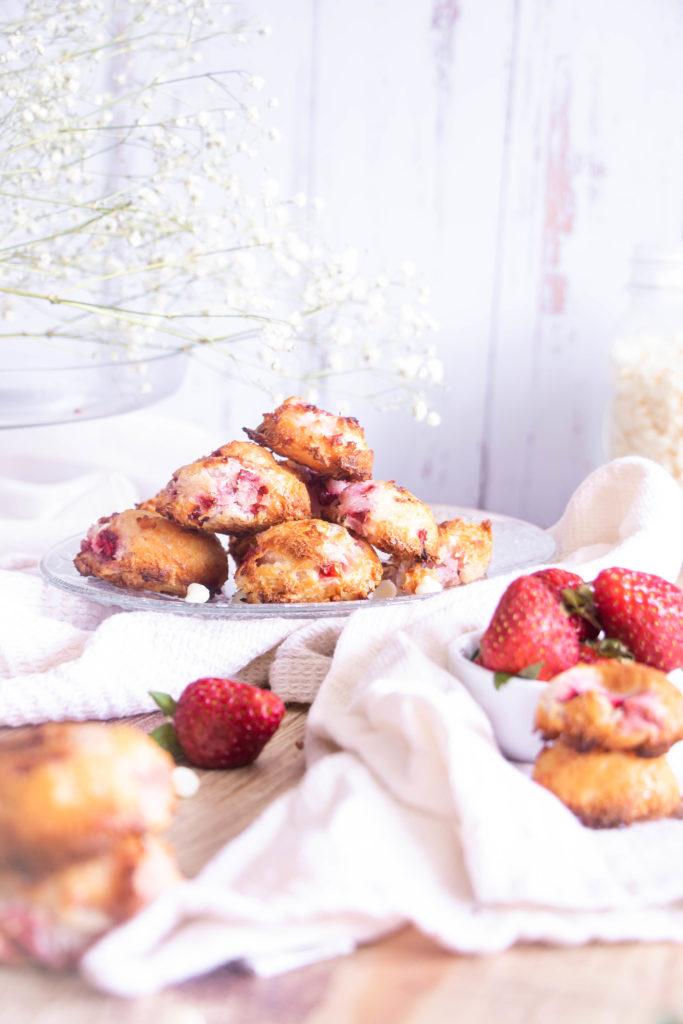 Rochers coco fraises chocolat blanc