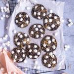 Cookies chocolat guimauve noix