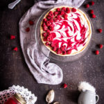 Tarte cheesecake vegan framboise