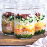 Salade de quinoa et légumes en jar (Batch cooking)