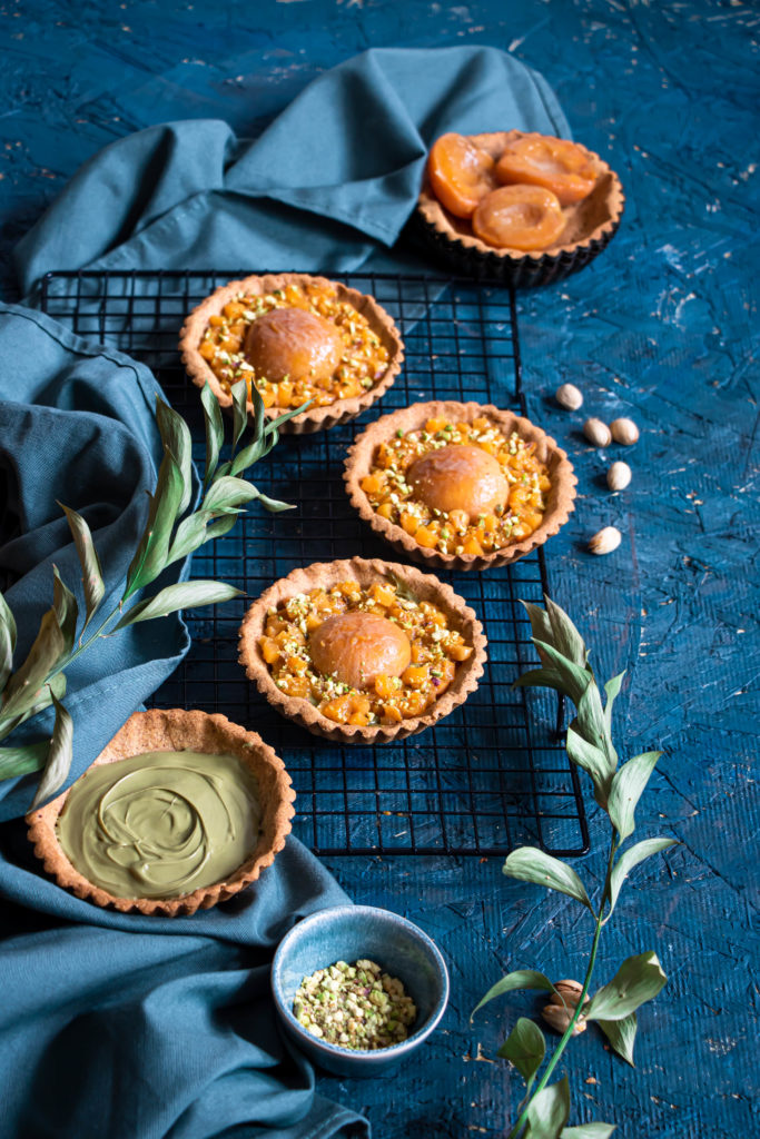 Tartelettes abricots pistache
