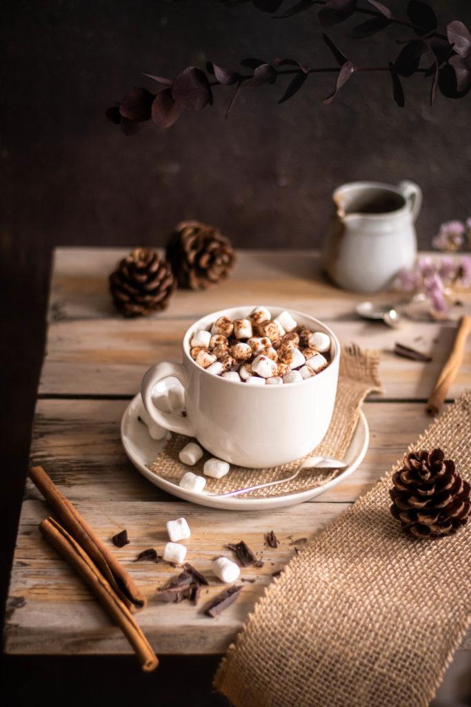 chocolat chaud citrouille guimauves