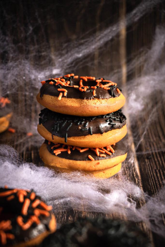 Donuts citrouille chocolat Halloween
