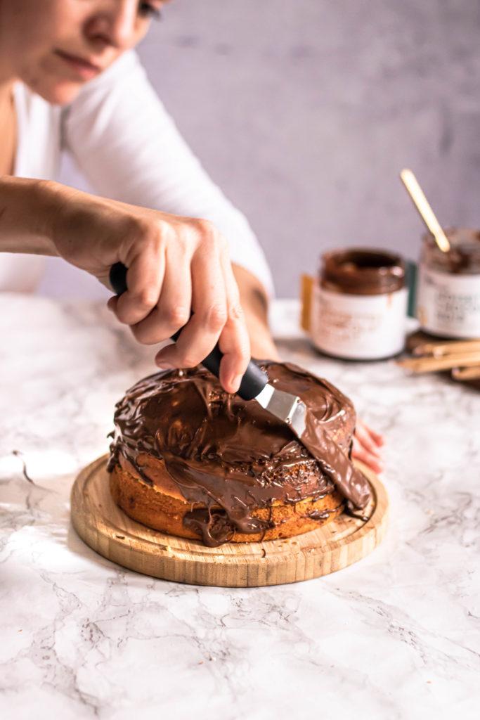 Layer cake yogourt et chocolat pour les 3 ans d'Allo Simone