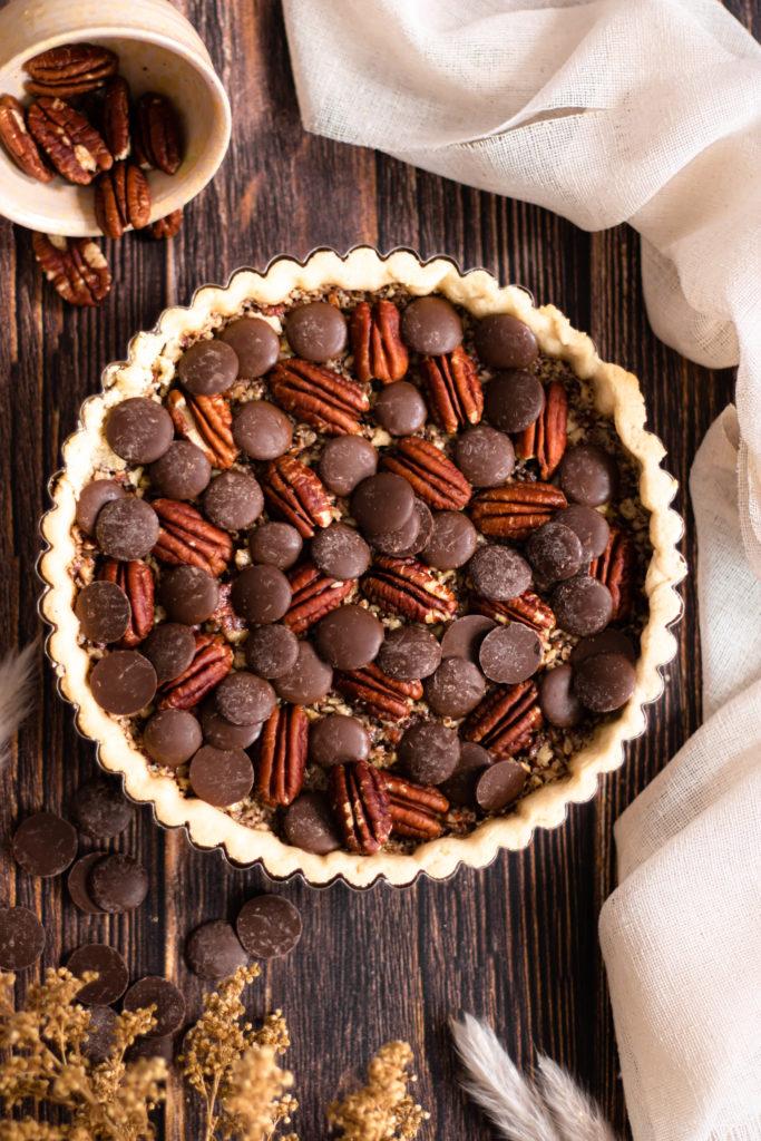 Tarte pacanes chocolat
