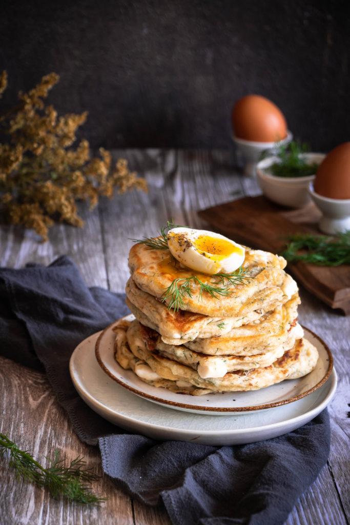pancakes salés feta aneth