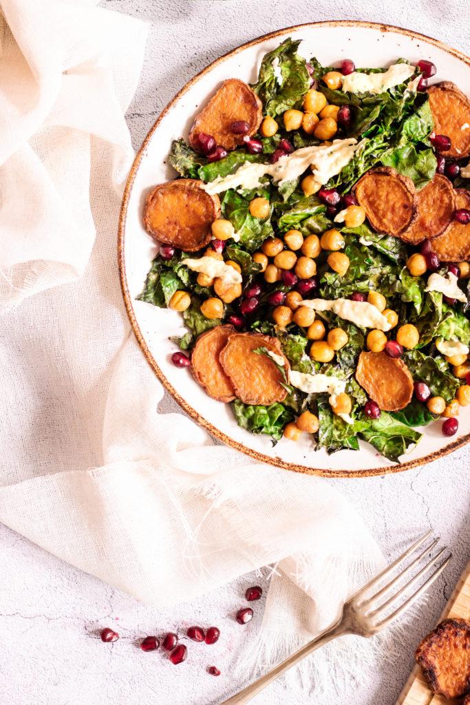 Salade de kale croustillant