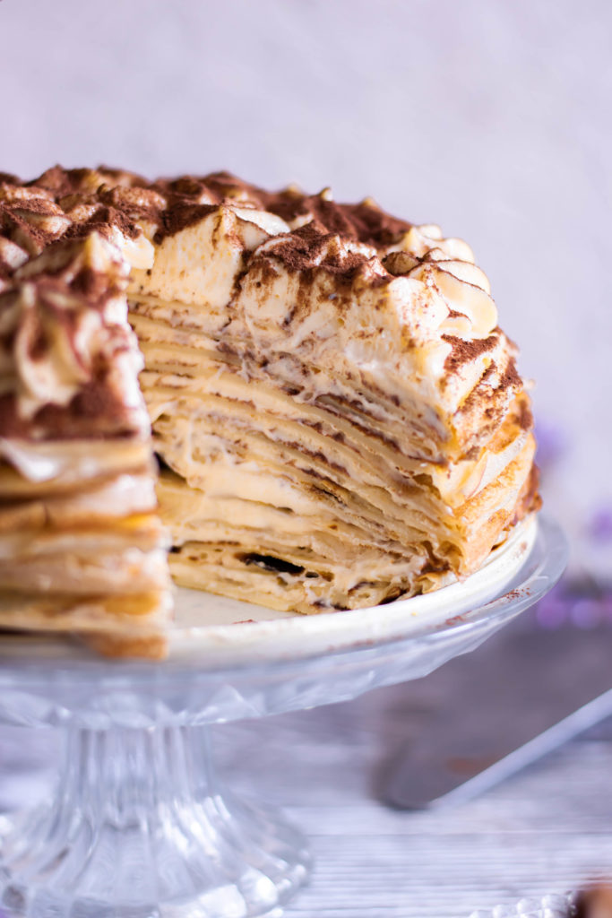 Gâteau de crêpes au tiramisu