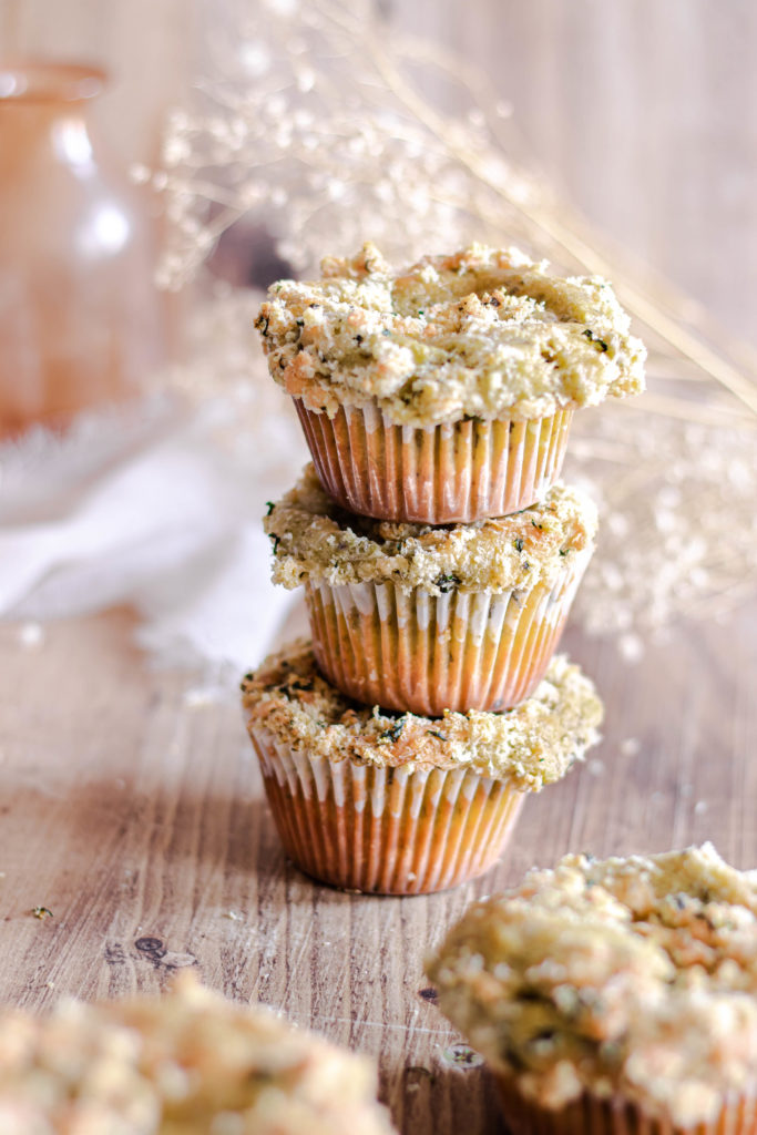 Muffins pesto ricotta streusel salé