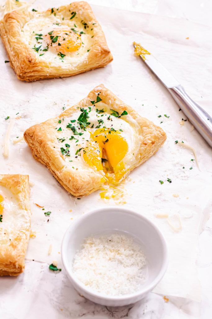 Feuilletés oeufs et fromage