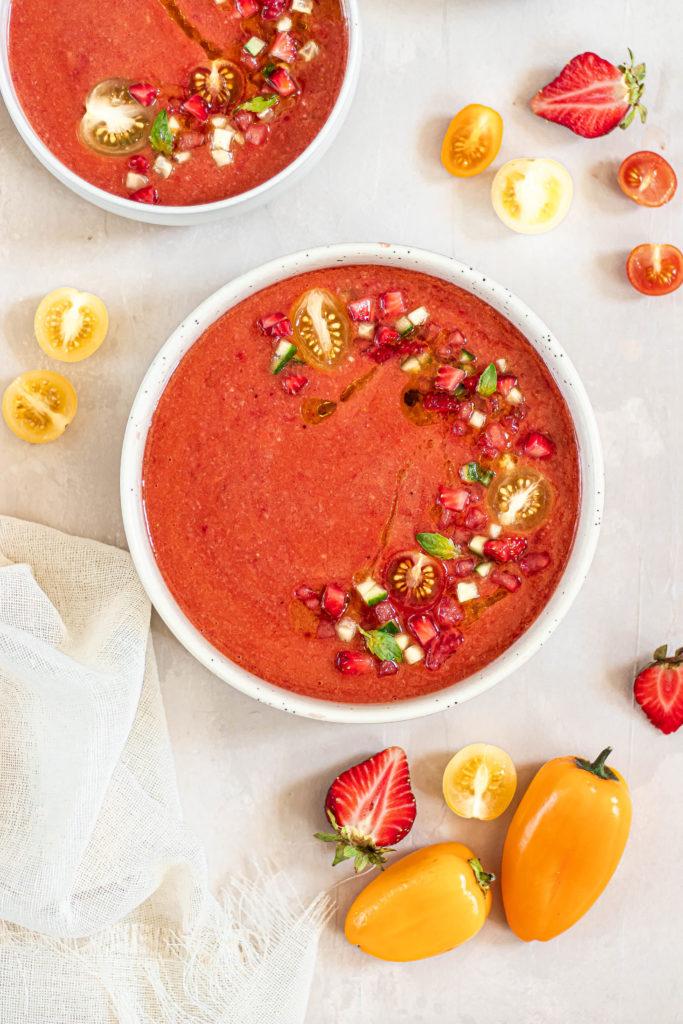 gaspacho pastèque fraises