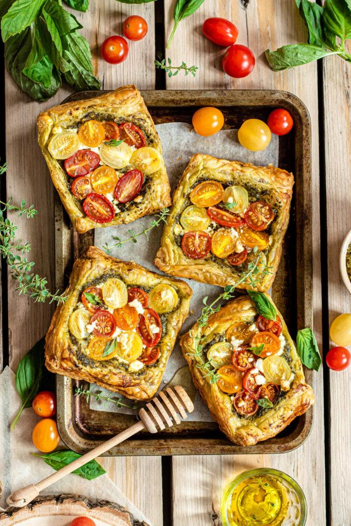 Tartelettes tomates pesto